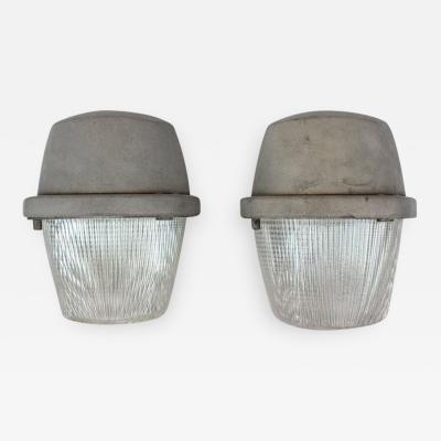 Large Industrial Holophane Wall Sconces