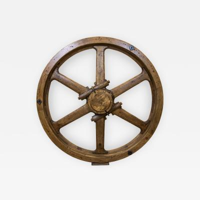 Large Industrial Wooden Wheel