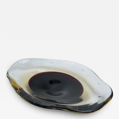 Large Irregular Shaped Shallow Murano Bowl Contemporary