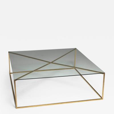 Large Italian 60s Brass Low Table