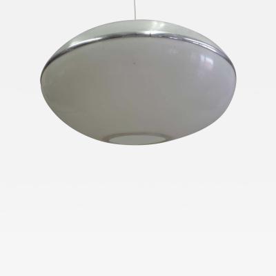 Large Italian Mid Century Modern Saucer Disc Form Chandelier Pendant 1970