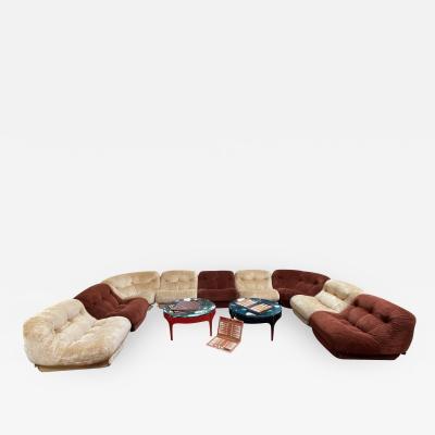 Large Italian Mid Century Modern sofa Italy 1980