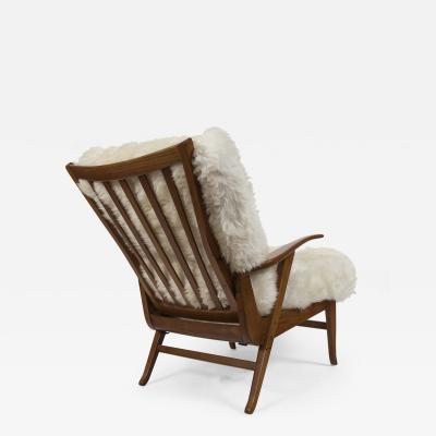 Large Italian Mid Century Reclining Lounge Chair