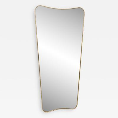 Large Italian Mirror in the Style of Gio Ponti