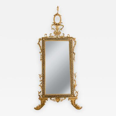 Large Italian Neoclassical Giltwood Mirror Probably Naples