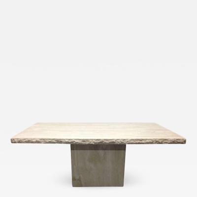Large Italian Travertine Table