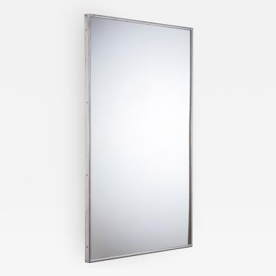 Large Italian Wall mirror with elegant nickel frame