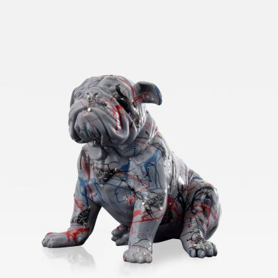 Large Jeff Diamond Prada Couture Bulldog Sculpture Unique