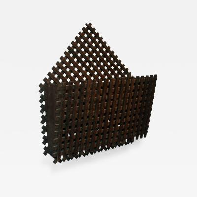 Large Latticework Wall Pocket American Circa 1940