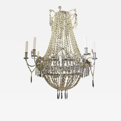 Large Louis XVI Style Crystal Chandelier