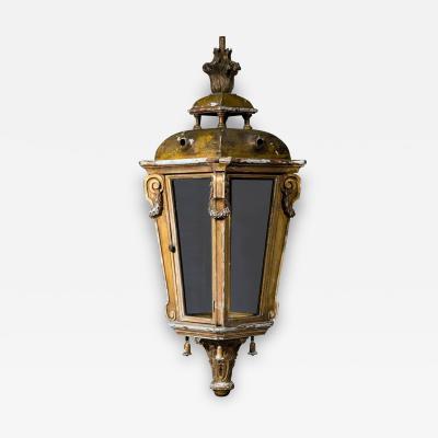Large Louis XVI Style Giltwood Hall Lantern