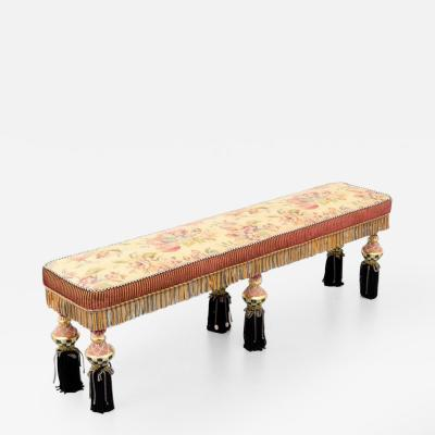 Large Mackenzie Childs Ltd Bench 2 Available