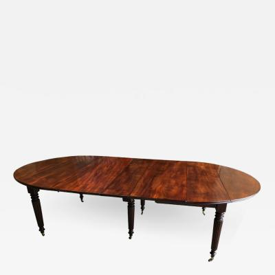 Large Mahogany Expanding Dining Table French 19th Century