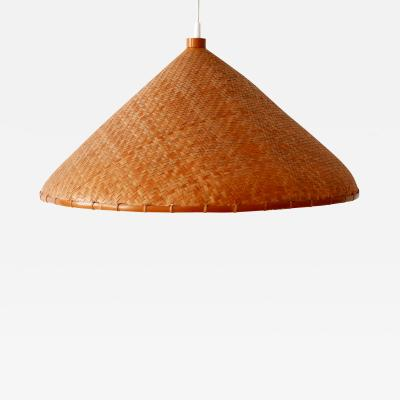 Large Mid Century Modern Wicker Pendant Lamp or Hanging Light Germany 1960s