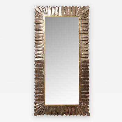 Large Modern Amber Murano Glass Mirror