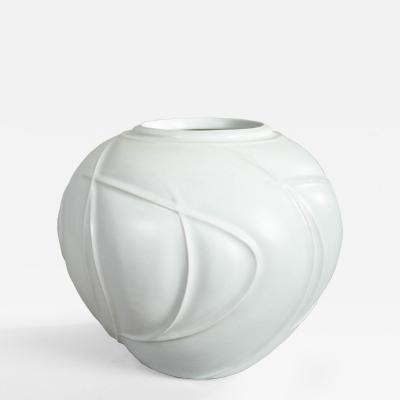 Large Modern Japanese Porcelain Studio Vase