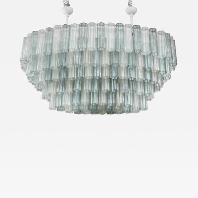 Large Modern Murano Glass Oval Chandelier