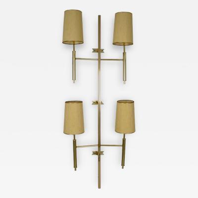 Large Modernist Brass Wall Sconce USA Circa 1970s