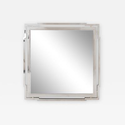 Large Modernist Nickel Mirror