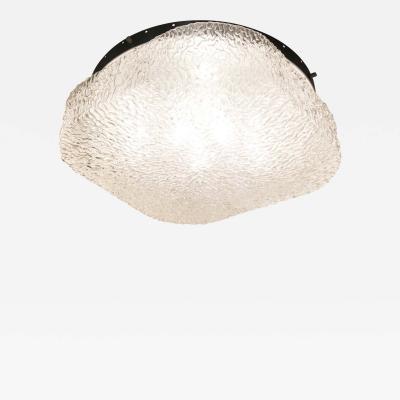 Large Murano Glass Flush Mount