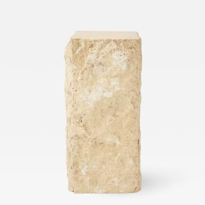Large Natural Travertine Pedestal