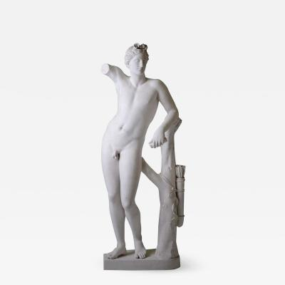 Large Neoclassic Plaster Statue of Dionysos or Bacchus France circa 1930
