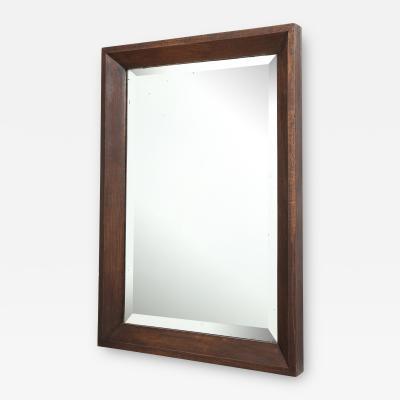 Large Oak Mirror with Original Bevelled Glass France c 1930