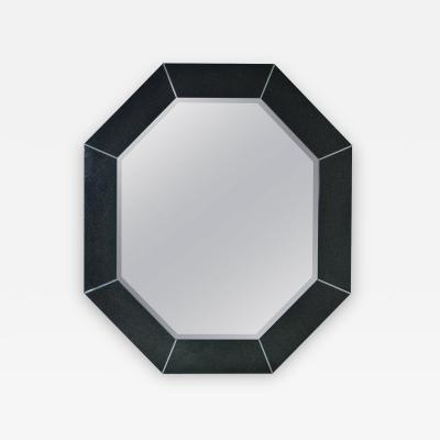 Large Octagonal Mirror in Custom Black Finish
