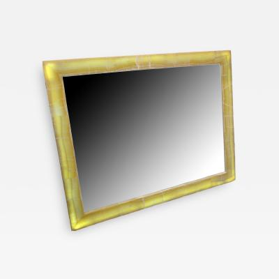 Large Onyx Mirror with aframe backlit by LED