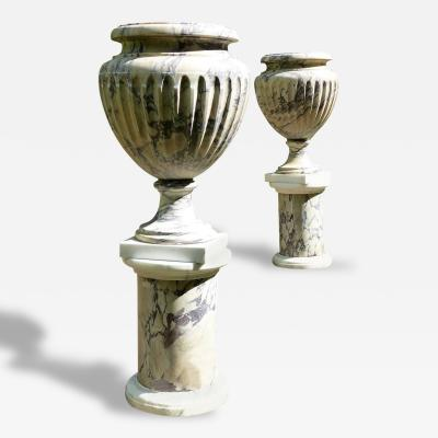 Large Pair of Marble Urns