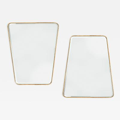 Large Pair of Trapezoidal Wrought Iron Mirrors