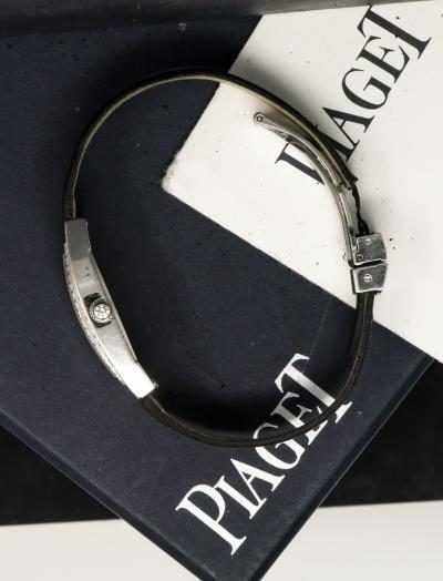 Large Piaget Limelight Factory Diamond Watch 18kt White Gold with Box Papers