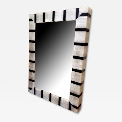 Large Rectangular Mirrror with Onyx Frame backlit by LED
