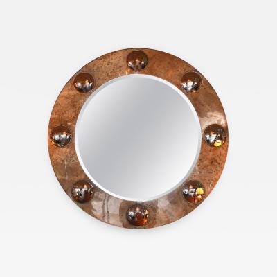 Large Round Parchment Mirror