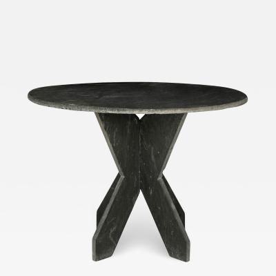 Large Round Vintage Slate Table