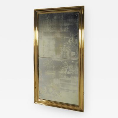 Large Scale Brass Framed Mirror France late 19th Century