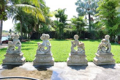 Large Scale Louis XV Style Concrete Garden Sculptures of the Four Seasons
