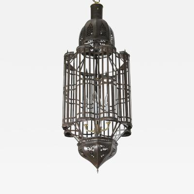 Large Scale Moroccan Pendant Chandelier Clear Glass