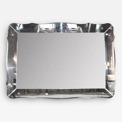 Large Scale Scalloped Mirror Circa 1940s