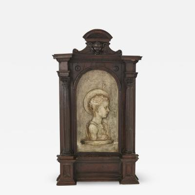 Large Sculptural Italian Baroque Tabernacle Frame Late 18th Century