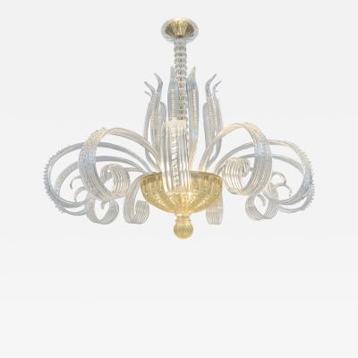 Large Seguso vetri d arte chandelier 1960s