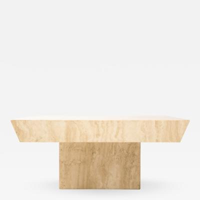 Large Square Travertine Coffee Table