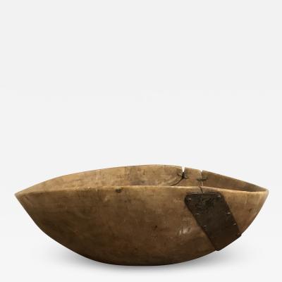 Large Swedish Rustic Burl Bowl