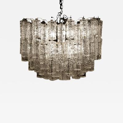 Large Tiered Chandelier Attributed to Venini Murano