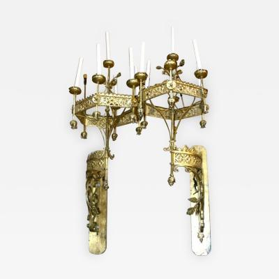 Large Torchere Sconces