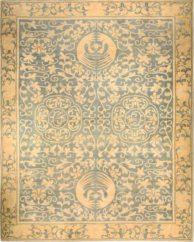 Large Vintage Chinese Art Deco Carpet