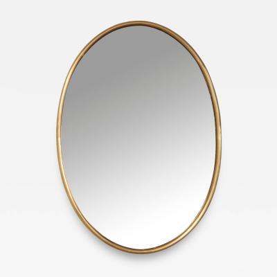 Large Vintage Italian Oval Shaped Brass Mirror