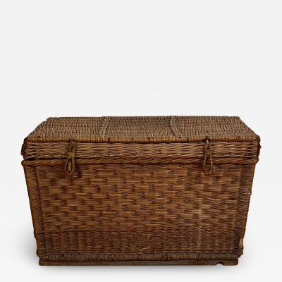 Large Wicker Trunk