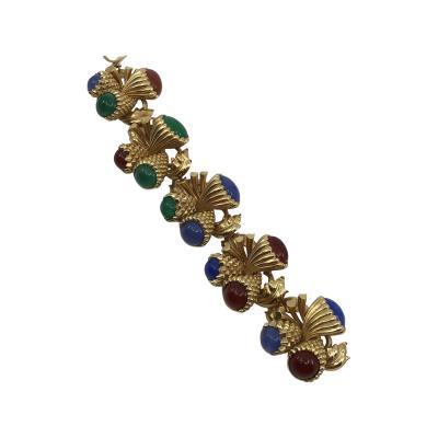 Large color stone bracelet