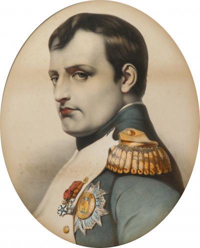 Large framed portrait print of Napoleon Bonaparte